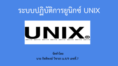 ระบบปฏิบัติการ unix