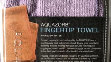 aquazorb fingertip towel