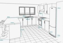 ห้องครัว sketchup